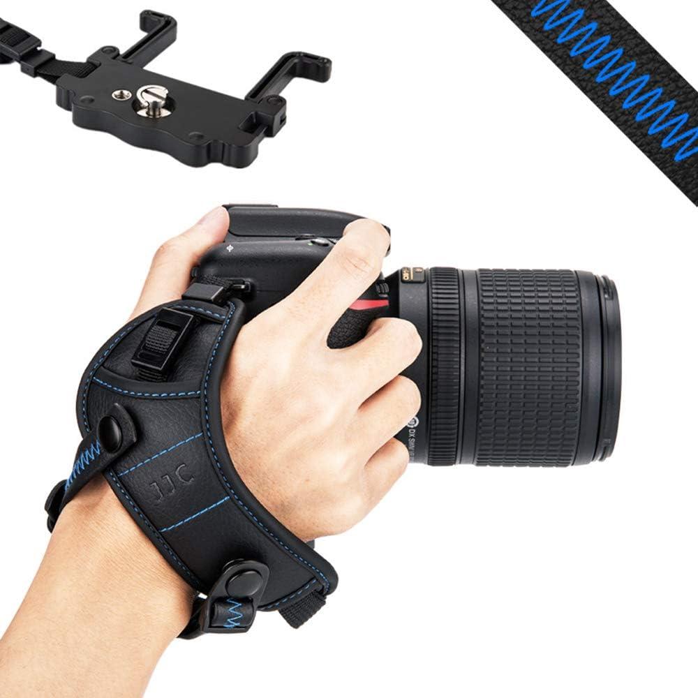JJC DSLR Camera Hand Grip Strap Wrist Strap w/U Plate Stand for Nikon D850 D810 D750 D610 D7500 D7200 D7100 D5600 D5500 D3500 D3400 Canon 7DM2 7D 6DM2 6D 5DM4 5DM3 5Ds 5DsR 80D 77D 70D 60D T7i T6s T6i