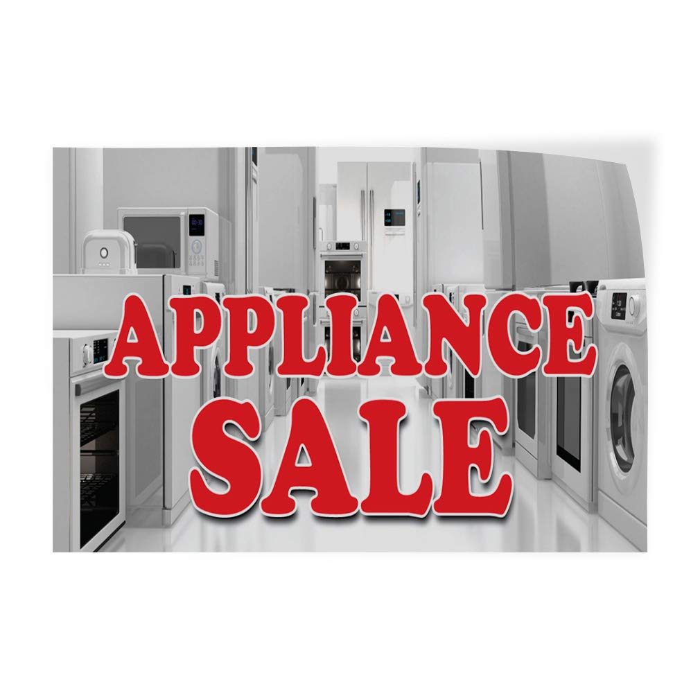 Decal Sticker Appliance Sale Business Style U Business Appliances Outdoor Store Sign White (Multiple Sizes Available) - 27inx18in, Set of 10