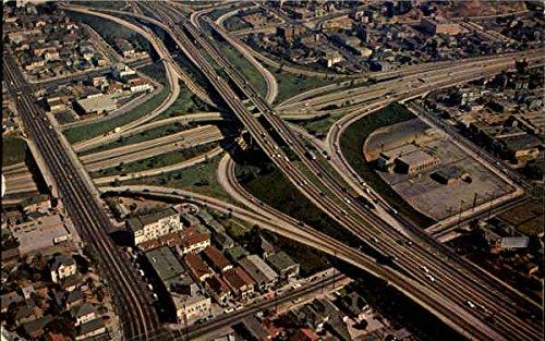 Los Angeles Freeway System Los Angeles, California Original Vintage Postcard