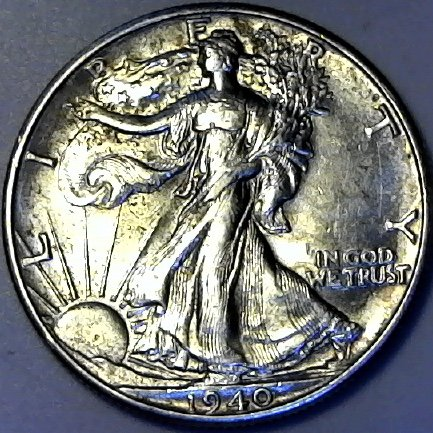 1940 P Silver Walking Liberty Half Dollar AU