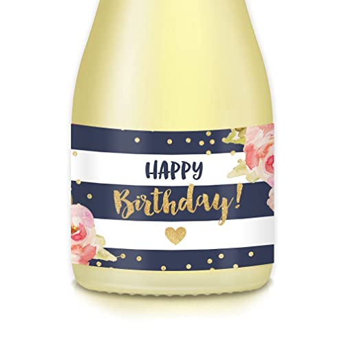 Happy Birthday Girl 20 Count Sparkling Mini Champagne Or Wine Bottle Labels