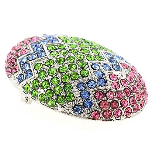 Multicolor Easter Egg Crystal Pin Brooch