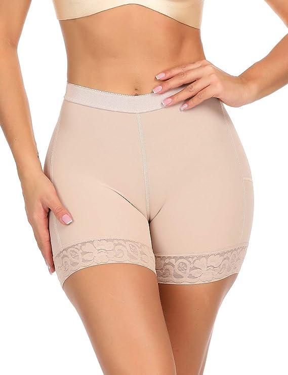 Invisible Control Panty Butt Lifter Body Shaper Mid Waist Shapewear Beige Mid Waist S