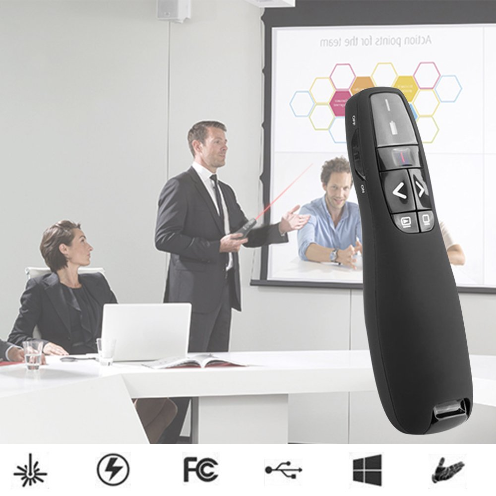 Wireless Presenter with Laser Pointer, 2.4GHZ Support Topic Speech and Super URL, Powerpoint Presentation Remotes R400-Bollaer, USB Control for Teaching and Meeting by BOLLAER (Image #5)