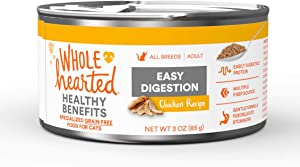 WholeHearted Easy Digestion Chicken Recipe Adult Wet Cat Food, 3 oz., Case of 24, 24 X 3 OZ