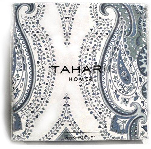 Tahari Luxury Boho Style Moroccan Medallion Fabric Shower Cu