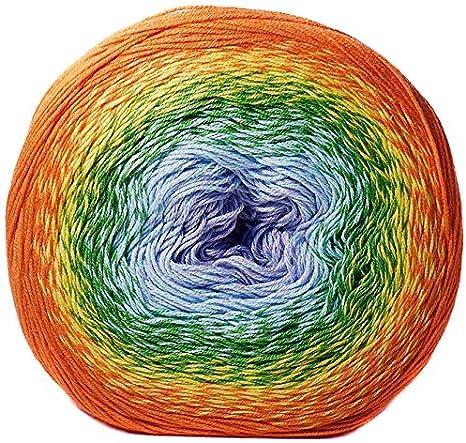 YARNART FLOWERS Gradient 250 g 1000 meters Multicolor cotton yarn Rainbow crochet yarn spring summer yarn color choice hand knit yarn cotton