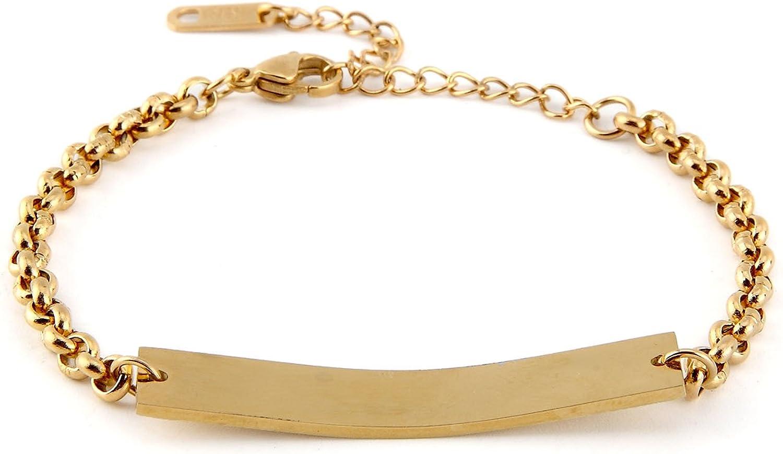 Engraved Bracelet Personalized Bracelet For Her Custom Bracelet Coordinate Bracelet Gold Bar Bracelet Name Bracelet Friendship Bracelet
