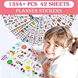 Christmas Sticker Collection Set of 1344+ PCS-Variety Sticker Pack-7 PVC Sticker Sheets Per Pack-Decorative Sticker Collection for Scrapbooking, Bullet Journals,Calendars, Arts, Kids DIY Craft, Album.