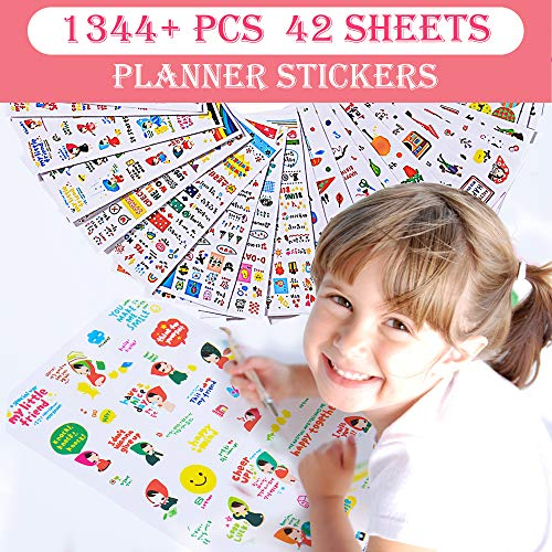 (Christmas Sticker Collection Set of 1344+ PCS-Variety Sticker Pack-7 PVC Sticker Sheets Per Pack-Decorative Sticker Collection for Scrapbooking, Bullet Journals,Calendars, Arts, Kids DIY Craft, Album. )