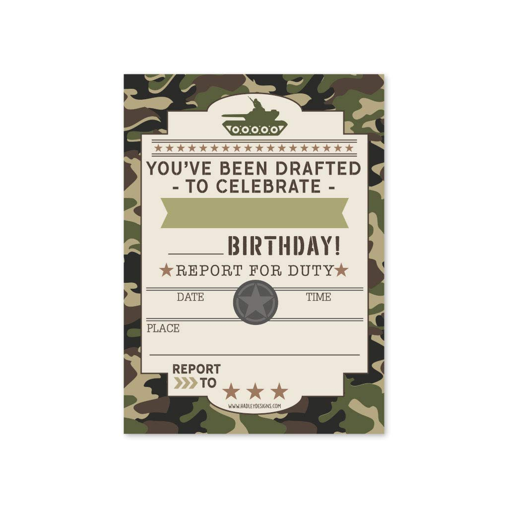 photo regarding Camo Printable Paper named 25 Camo Military Children Birthday Get together Invites, Boy Sleepover Camouflage Armed service Themed, Tank Soldier Little ones or Infants Bday Scout Camp Concept