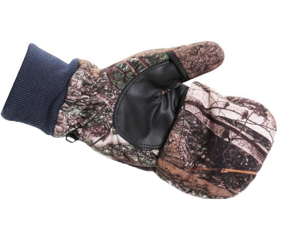 SHU LI アウトドア ライディング 登山用手袋 男女兼用 冬用 暖かいスキーグローブ B07FMBYV8N  迷彩 Small