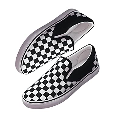 1553eae74b20 Checkerboard Shoe, Hopestar Canvas Lazy Casual Flat Rubber Slip-On Shoe  Checkerboard US 4.5