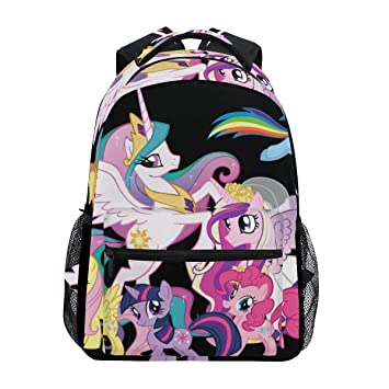8029d0f61081 Amazon.com: Backpack My Little Pony Unicorn Family Mens Laptop ...