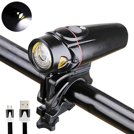 JKLP Luz de Bicicleta luz de Bicicleta de montaña, súper Brillante ...