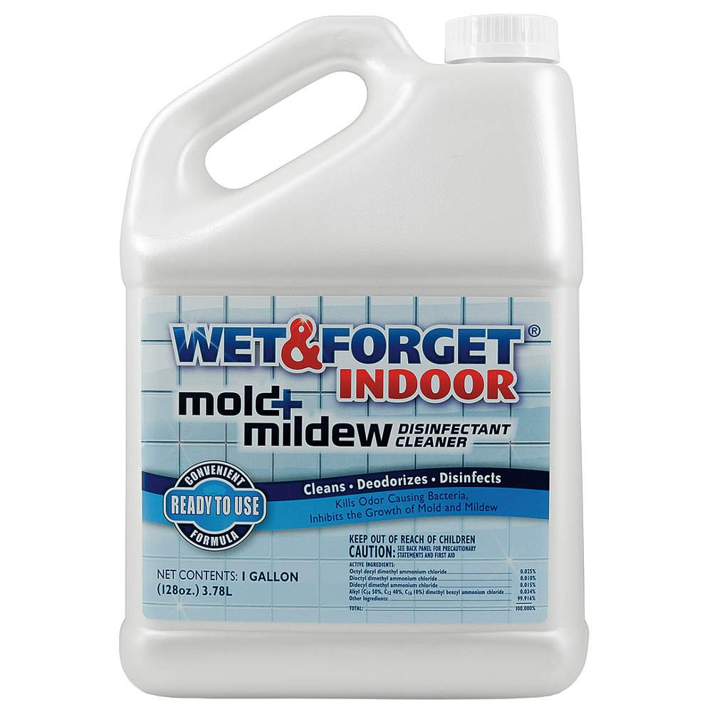 Wet and Forget Indoor Mold and Mildew Disinfectant, 1gal by WET & FORGET