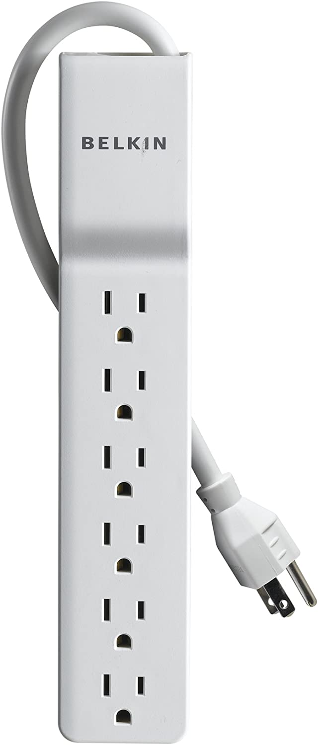 Belkin 6-Outlet Commercial Power Strip Surge Protector with 6-Foot Power Cord, 720 Joules (BE106000-06-CM), White