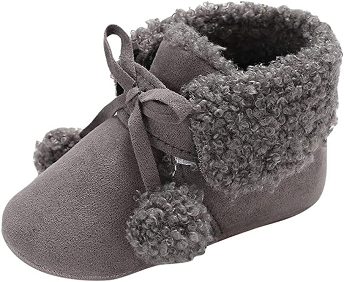 XUANOU Baby Girl Boy Girl Soft Booties Tassels Snow Boots Toddler Warm Shoes