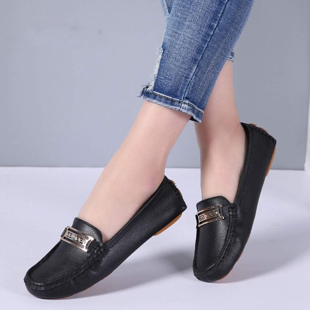 Chaussures de Printemps pour Femme Chaussures de Sport en Cuir Souple Chaussures Bateau Mocassins Ballerines l/ég/ères Mocassins