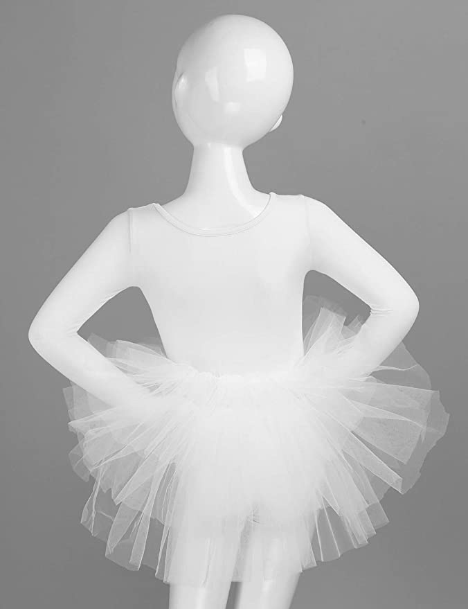 CHICTRY Maillot de Danza con Tutú para Niña Vestido de Ballet ...