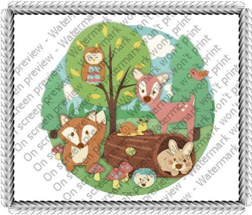 1/4 Sheet ~ Children Woodland Animals Birthday ~ Edible Image Cake/Cupcake Topper!!! by Quantumchaos Media