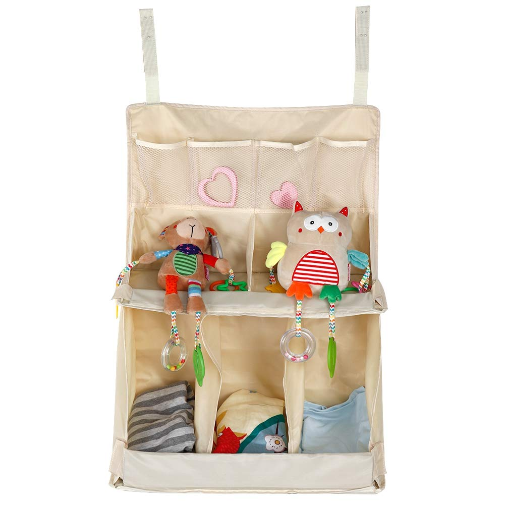 Baby Diaper Caddy Organizer Colgante Diaper Holder Hanging Diaper Organizer Caddy Cuna Cambiador de Mesa Organizador para pa/ñales Juguetes Tissue Nursing Bottle