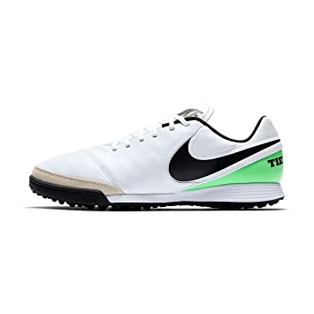 Nike - Performancetiempox Genio II TF - Botas de Fãºtbol multitacos - White/Black/