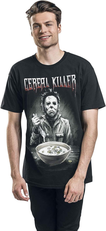 Halloween Michael Myers Cereal Killer T-Shirt Manches Courtes Noir