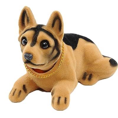 Ebow Dashboard Head Dogs Nodding Heads Car Dash Ornaments Puppy for Car Vehicle Decoration(Shepherd): Toys & Games