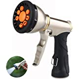 Hose Nozzle Hose Sprayer Heavy Duty Hose Spray Nozzle with 9 Adjustable Patterns Garden Hose Nozzle