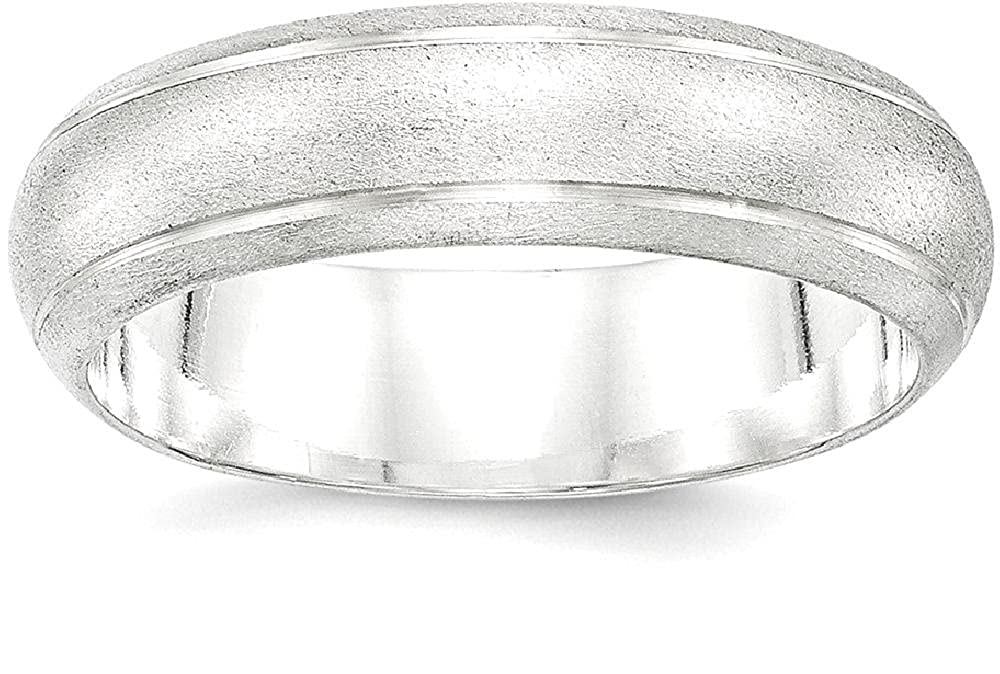 925 Sterling Silver 6mm Finish Wedding Ring Band Classic Fine Jewelry Gifts For Women For Her