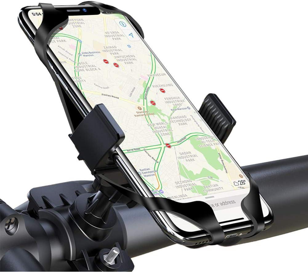 LAYJOY Soporte Movil Bicicleta, Soporte Movil Bici, Bicicleta Montaña y Motocicleta, Silicona Ajustable 360° Rotación Teléfono Universal Manillar para iPhone/Samsung/Huawei/Xiaomi de 3.5