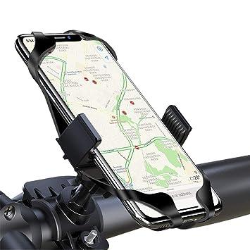 LAYJOY Soporte Movil Bicicleta, Soporte Movil Bici, Bicicleta Montaña y Motocicleta, Silicona Ajustable 360° Rotación Teléfono Universal Manillar para ...