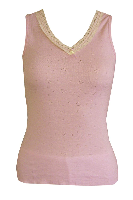 Ladies Heat Guard Underwear Thermal Sleeveless Vest Top - Grey, Pink, Black