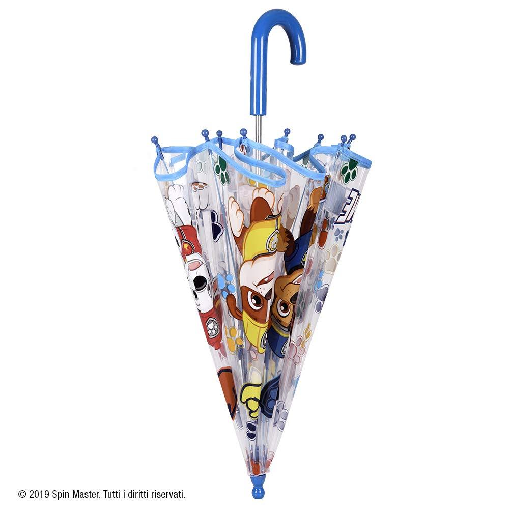 Paraguas Infantil Paw Patrol Burbuja 3//6 A/ños Antiviento Fibra de Vidrio Perletti Kids Cupula Ligero Resistente Diametro 64 Manual Paraguas Transparente Patrulla Canina Ni/ño
