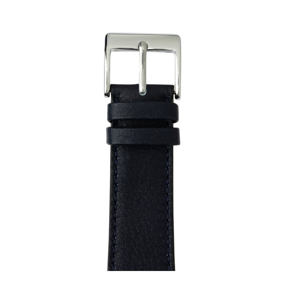 Roobaya | Premium Sauvage Leather Apple Watch Band in Dark Blue | Includes Adapters matching the Color of the Apple Watch, Case Color:Stainless Steel, Size:38 mm