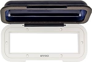 EnrockMarine EMCWT1 Universal in Dash Water Resistant Waterproof Tinted Radio Shield Receiver Cover (White Base)