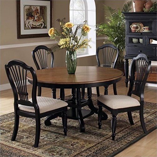 Bowery Hill 5 Piece Dining Set in Rubbed Black