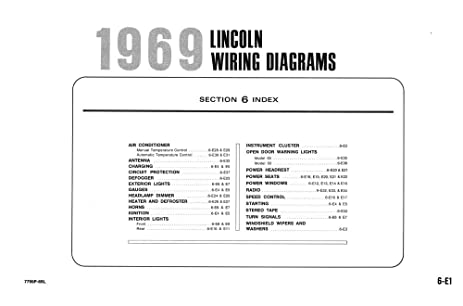 amazon com 1969 lincoln electrical wiring diagrams schematics 1969 chevrolet wiring diagram 1969 lincoln electrical wiring diagrams schematics drawings color codes factory