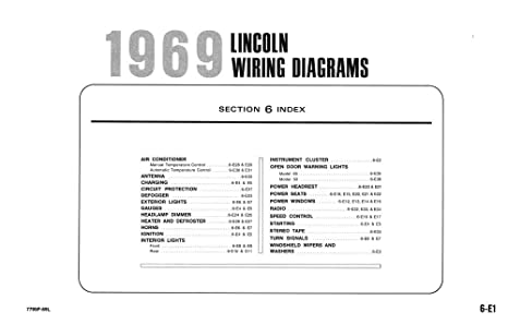 image unavailable  image not available for  color: bishko automotive  literature 1969 lincoln electrical wiring diagrams