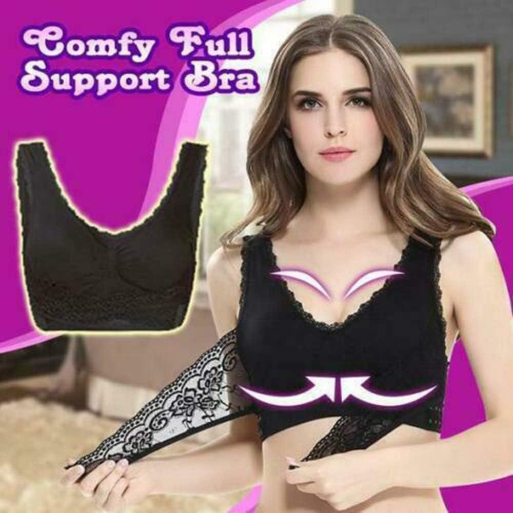 Women Wireless Front Cross Side Buckle Lace Lift Bra Breathable Yoga Sport Vest