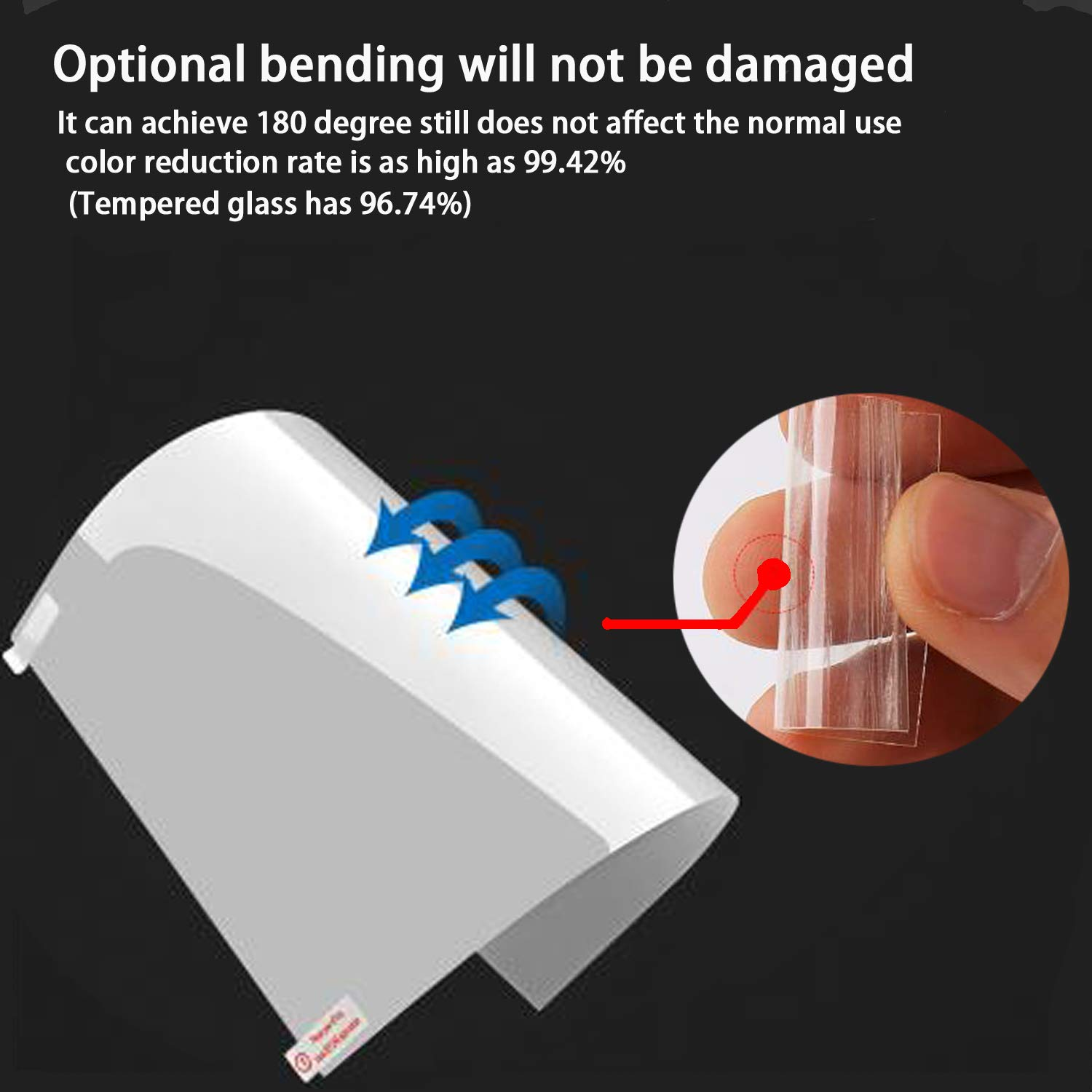 Glass Screen Protector for MacBook Pro 15 Inch Model A1707,9H Hardness with Ultra Thin 0.15mm Thickness by LILIONGTH (Image #4)