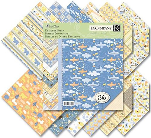 K&Company Itsy Bitsy Baby Boy 8-1/2-Inch by 8-1/2-Inch Paper Pad - Scrapbooking Paper Baby