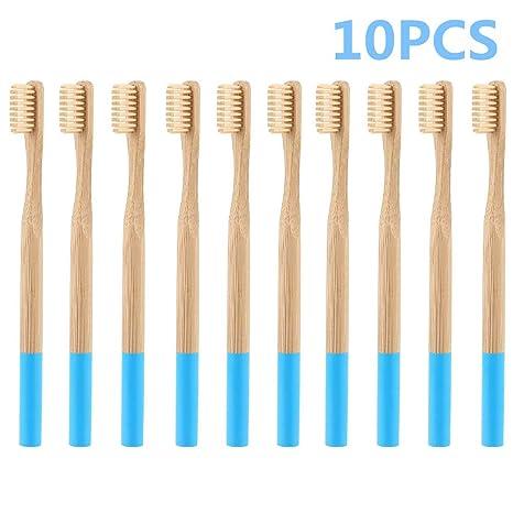 Cepillo de dientes de bambú con cerdas de carbón – cuidado dental natural para toda la