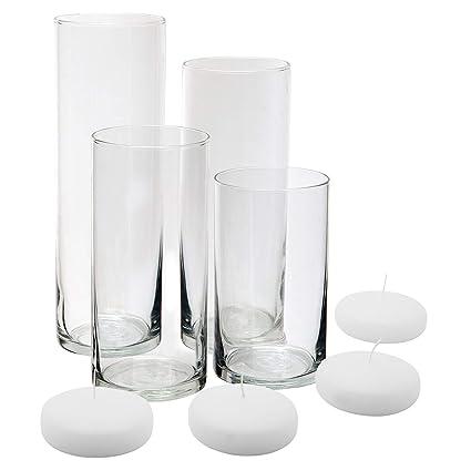 Amazon Royal Imports Glass Cylinder Vases Set Of 4