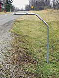RTC SwingAway Mailbox Support, 36-inch arm, Galvanized Steel Mailbox Post Swings Away When Impacted