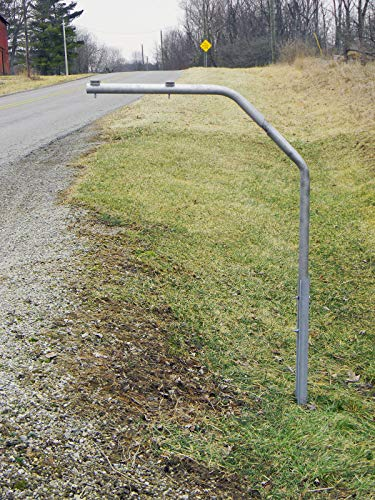 (RTC SwingAway Mailbox Support, 36-inch arm, Galvanized Steel Mailbox Post Swings Away When Impacted)