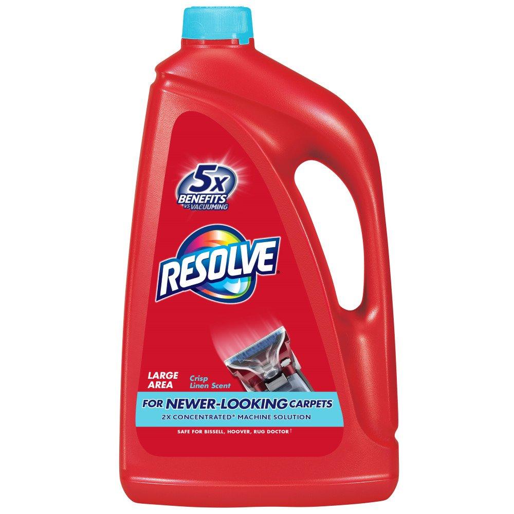 Resolve Steam Carpet Cleaner Solution Shampoo, 60oz, Crisp Linen, 2X Concentrate, Safe for Bissell, Hoover & Rug Doctor