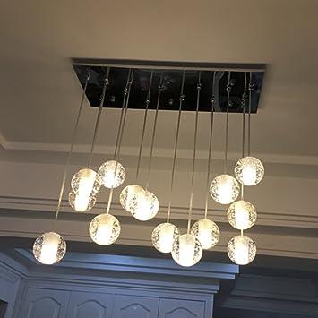 INJUICY Beleuchtung Industrielle Vintage G4 Edison Kristall Kugel Decke  Pendelleuchte Hängeleuchte Für Wohnzimmer Esszimmer Startseite Antike