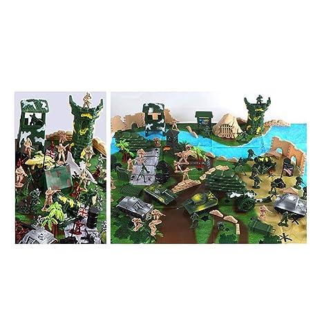 Amazon.com: keebgyy 300 Pcs Simulation Army Model Set , Sand ...